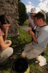 Schmeller and team analysing lake water samples.